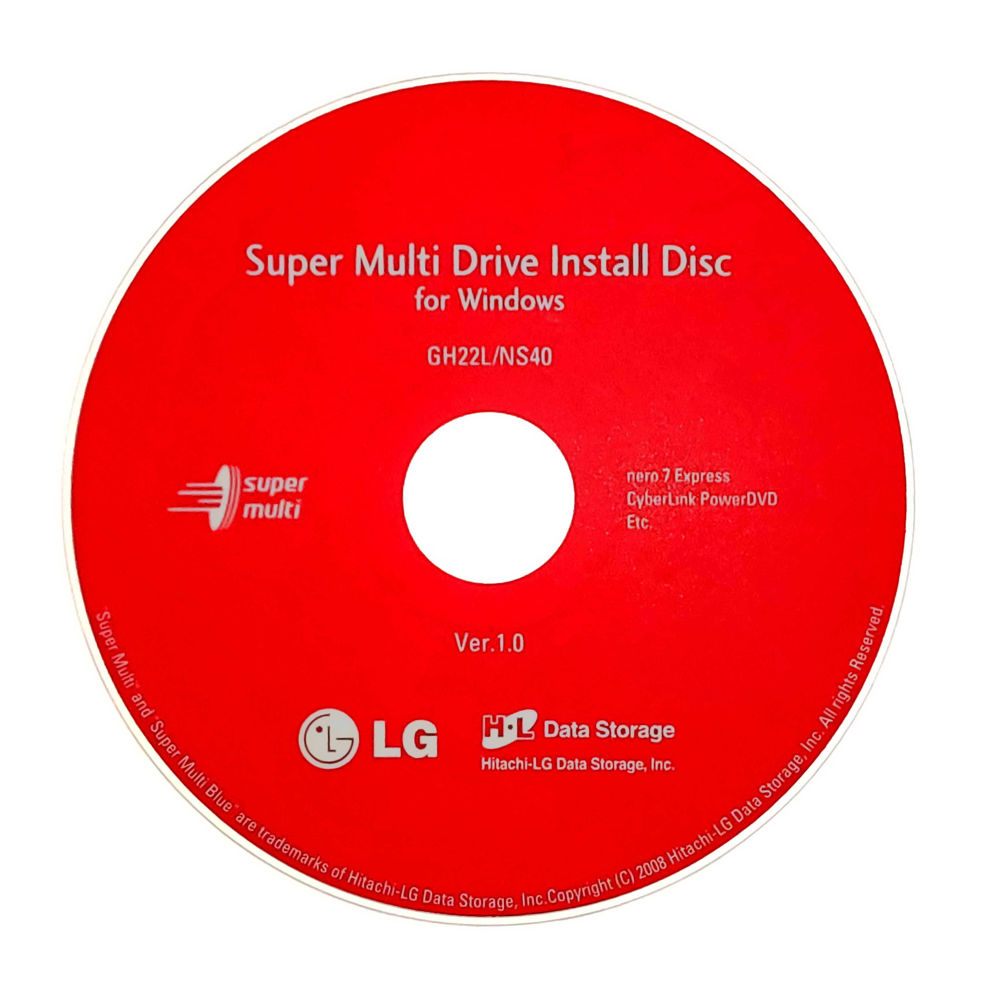 Super Multi Drive Install Disc