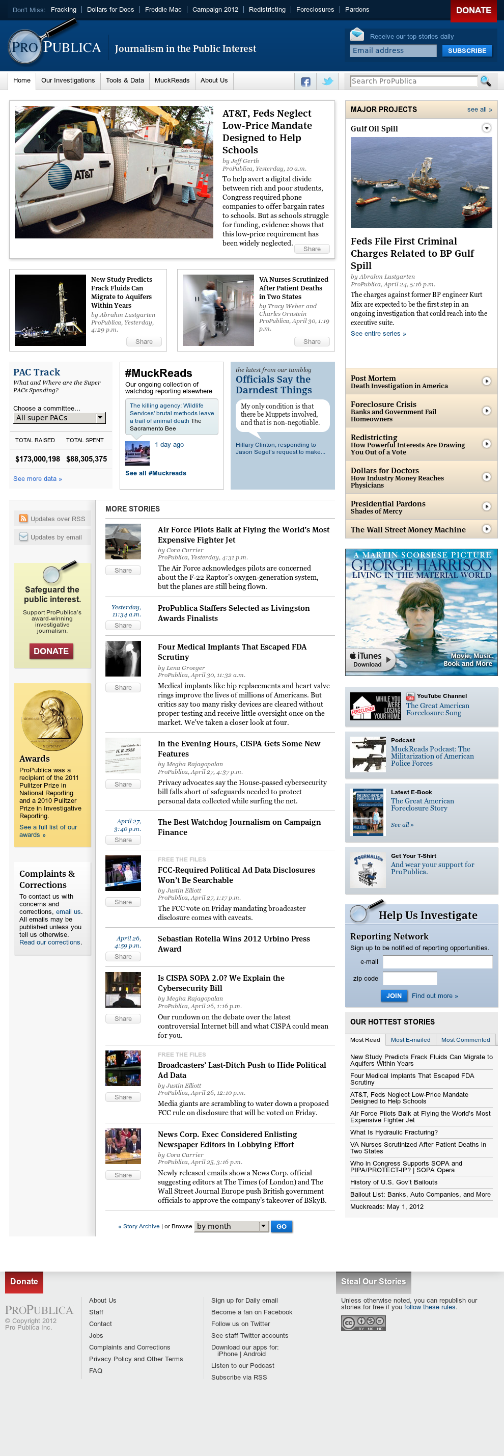 ProPublica at Wednesday May 2, 2012, 7:11 a.m. UTC