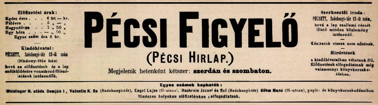 Pécsi Figyelő (1873-1902)