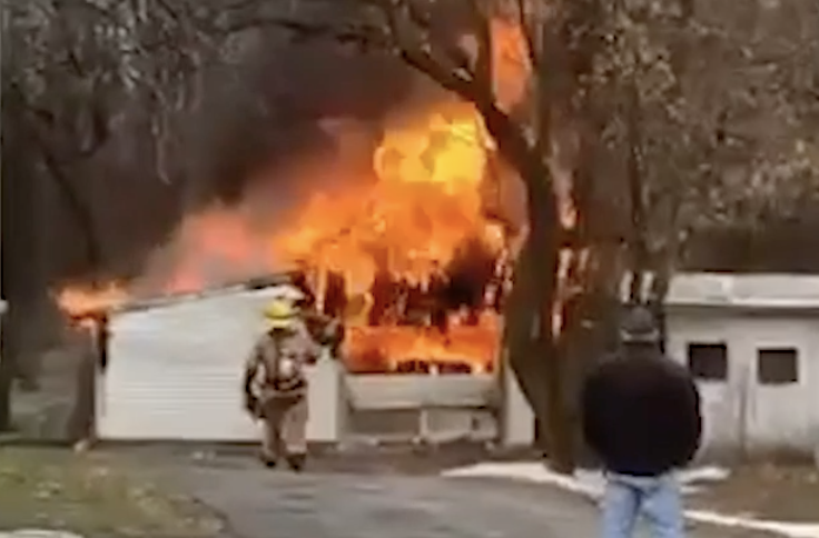 Garage fire reported in Auburn on Thursday
