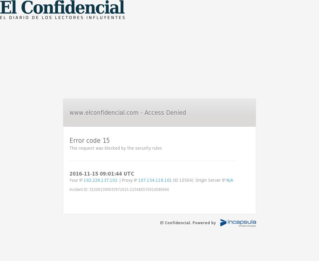 El Confidencial at Tuesday Nov. 15, 2016, 9:03 a.m. UTC