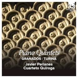 Piano Quintets by Granados ,   Turina ;   Javier Perianes ,   Cuarteto Quiroga