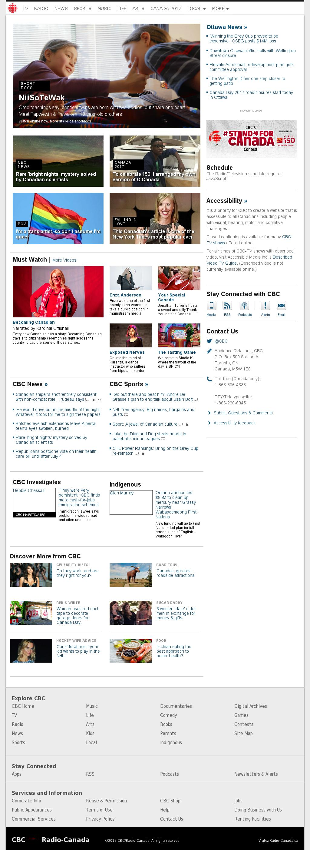 CBC at Wednesday June 28, 2017, 12:02 a.m. UTC