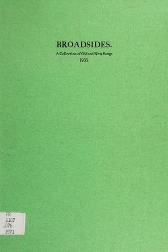Broadsides, a collection of old and new songs, 1935 by Frederick Robert Higgins, W. B. Yeats, Arthur Duff, Jack Butler Yeats