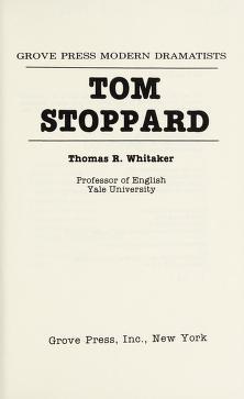Cover of: Tom Stoppard | Thomas R. Whitaker